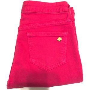 Kate Spade Pink Play Hooky Jeans Size 26 (EUC)